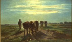 Landscape with Oxen   Constant Troyon   Oil Painting