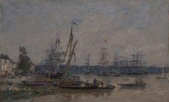 Harbor at Bordeaux   Eugene Louis Boudin   Oil Painting