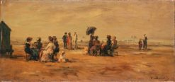 The Beach at Trouville | Eugene Louis Boudin | Oil Painting