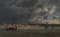 Storm over Antwerp | Eugene Louis Boudin | Oil Painting