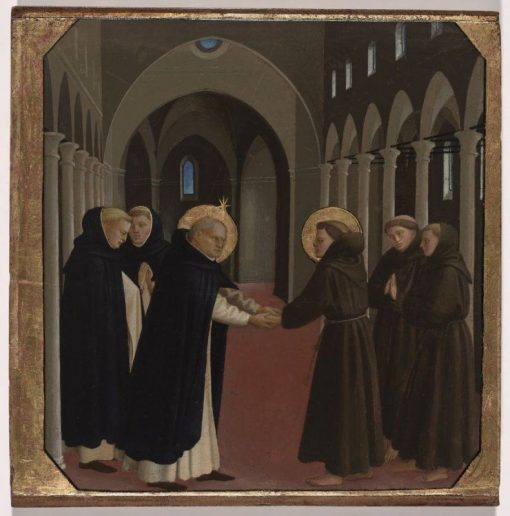 The Meeting of Saint Dominic and Saint Francis of Assisi | Fra Angelico | Oil Painting