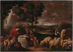 Jacob Meets the Herds of Laban | Francesco Bassano the Younger | Oil Painting