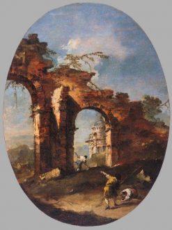 Landscape Capriccio with Figures   Francesco Guardi   Oil Painting