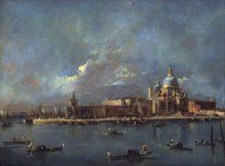 The Old Customs House and the Church of Santa Maria della Salute | Francesco Guardi | Oil Painting