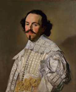 Portrait of a Gentleman in White | Frans Hals | Oil Painting