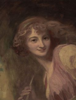 Mirth (Sketch for Head of Comedy) | George Romney | Oil Painting