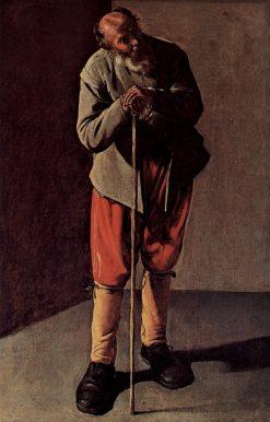 Portrait of an Old Man   Georges de La Tour   Oil Painting
