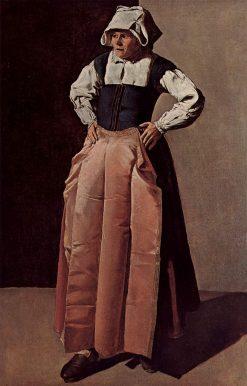 Portrait of an Old Woman   Georges de La Tour   Oil Painting