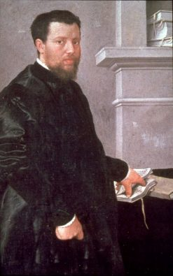 Portrait of a Gentleman (traditionally called Giulio Gilardi) | Giovanni Battista Moroni | Oil Painting