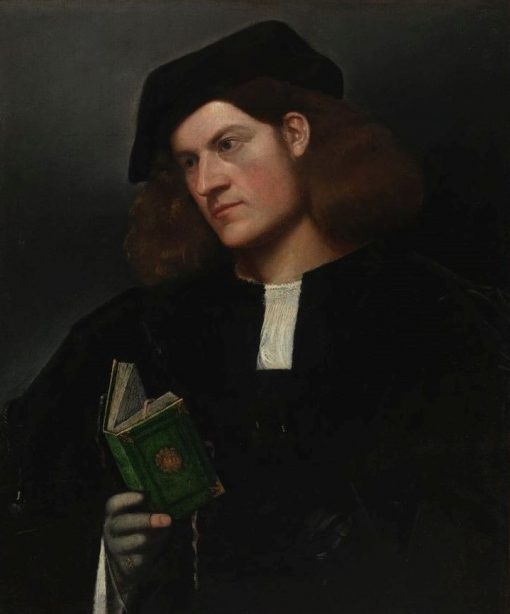 Portrait of a Young Man with a Green Book | Giovanni Cariani | Oil Painting