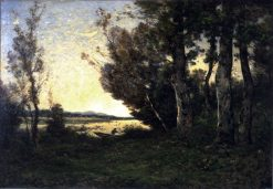 Bordes de l'Allier (Banks of the Allier) | Henri Joseph Harpignies | Oil Painting