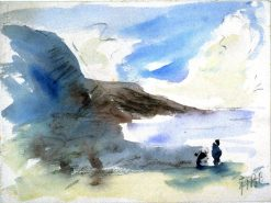 Figures Beside a Lake | Hercules Brabazon Brabazon | Oil Painting