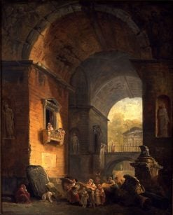 Musicians in an Archway | Hubert Robert | Oil Painting