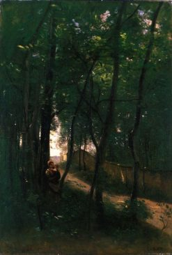 Landscape with Woman and Child   Jean Baptiste Camille Corot   Oil Painting