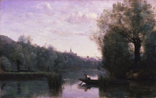 Banks of the Somme at Picquigny | Jean Baptiste Camille Corot | Oil Painting