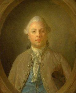 Portrait of a Man   Jean Baptiste Perronneau   Oil Painting