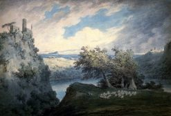 Lake of Nemi   John Robert Cozens   Oil Painting