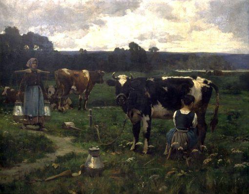 Milking Time | Julien DuprE | Oil Painting
