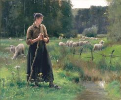 Peasant Girl with Sheep | Julien DuprE | Oil Painting