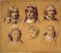 Portrait Studies | Louis LEopold Boilly | Oil Painting
