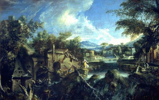 Landscape with Figures | Marco Ricci | Oil Painting
