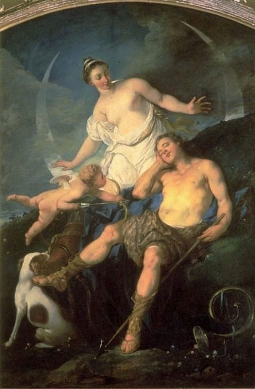 Diana and Endymion | Michel Francois DandrE Bardon | Oil Painting
