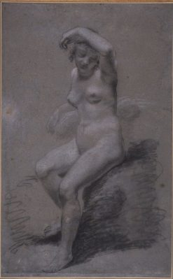 tude de nu (Study of a Female Nude) | Pierre Paul Prud'hon | Oil Painting