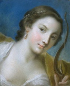Head of Diana   Rosalba Carriera   Oil Painting