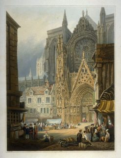 South Entrance to the Cathedral at Rouen | Samuel Prout | Oil Painting