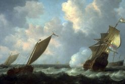 Seascape with Dutch Shipping | Simon de Vlieger | Oil Painting