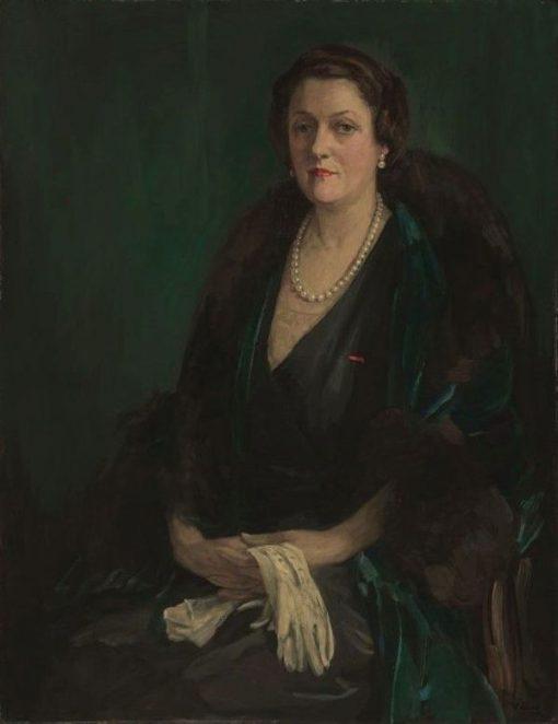 Alma de Bretteville Spreckels (Mrs. Adolph B. Spreckels)   Sir John Lavery