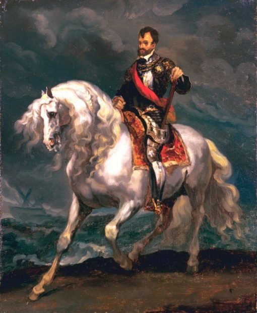Equestrian Portrait of Charles V (after Anthony Van Dyck) | ThEodore GEricault | Oil Painting