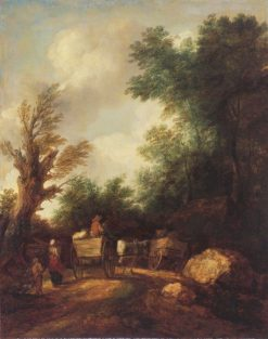 Landscape with Country Carts   Thomas Gainsborough   Oil Painting