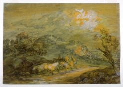 Upland Landscape with Figures