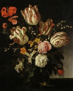 A Glass Vase of Flowers | Abraham van Calraet | Oil Painting