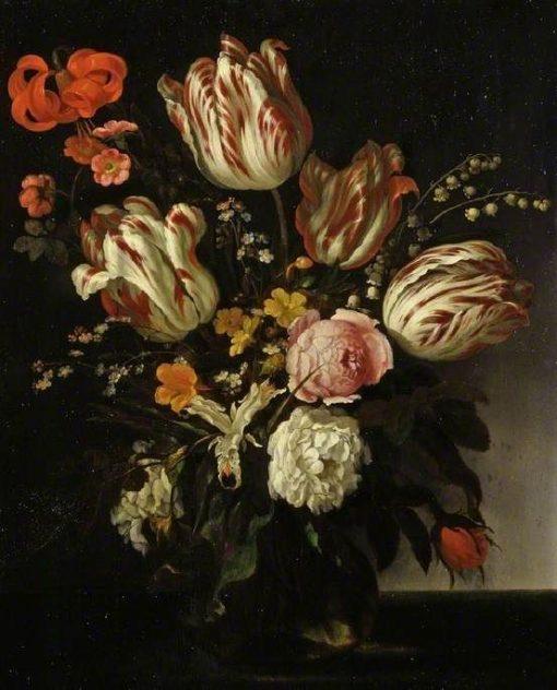 A Glass Vase of Flowers | Abraham van Calraet | Oil Painting