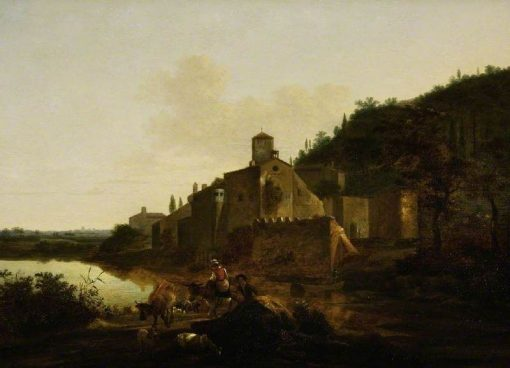 Italian Landscape with a Monastery | Adam Pynacker | Oil Painting