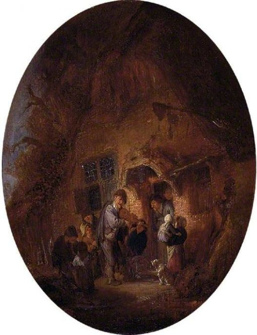Fiddler at the Door of a House | Adriaen van Ostade | Oil Painting