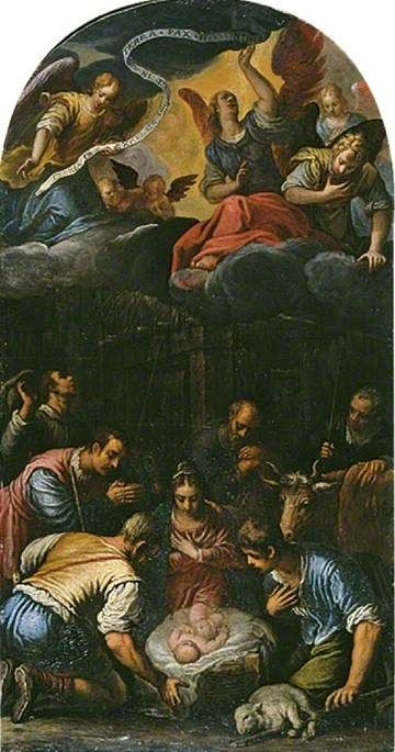The Adoration of the Shepherds   Alessandro Turchi   Oil Painting