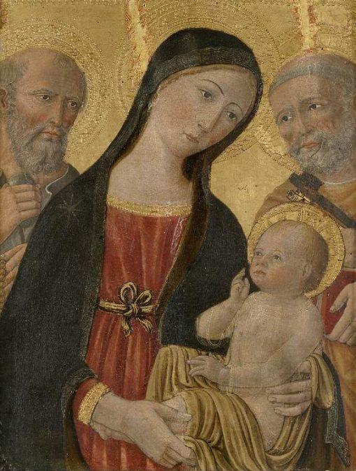 Virgin and Child between Saint Jerome and Saint Peter | Andrea di Niccolò di Giacomo | Oil Painting