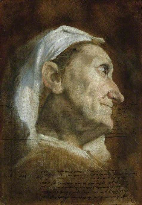 Head of an Old Woman | Annibale Carracci | Oil Painting