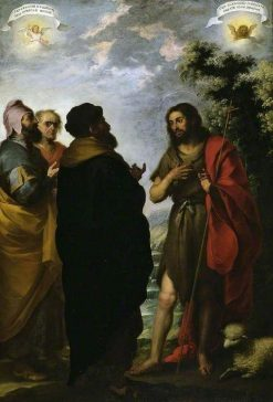 Saint John the Baptist with the Scribes and Pharisees | BartolomE Esteban Murillo | Oil Painting
