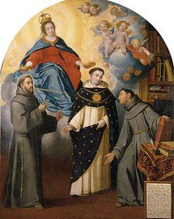 The Vision of Fray Lauterio | BartolomE Esteban Murillo | Oil Painting