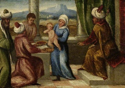 The Trial of Moses | Bonifazio Veronese | Oil Painting