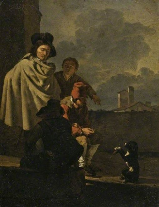 Italians with a Dog | Carel Dujardin | Oil Painting