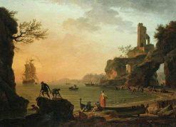 Sunset | Claude Joseph Vernet | Oil Painting