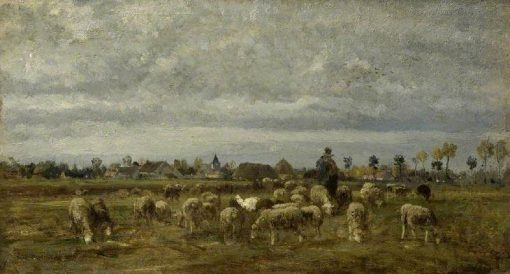 A Shepherd and His Flock | Constant Troyon | Oil Painting
