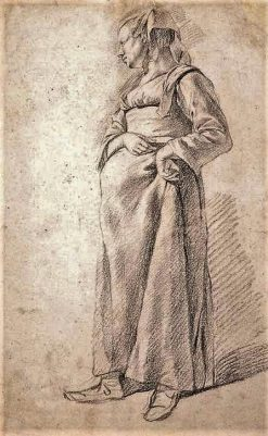 Standing Peasant Woman | Cornelis Pietersz Bega | Oil Painting