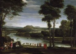 Landscape with Saint John Baptising | Domenichino | Oil Painting