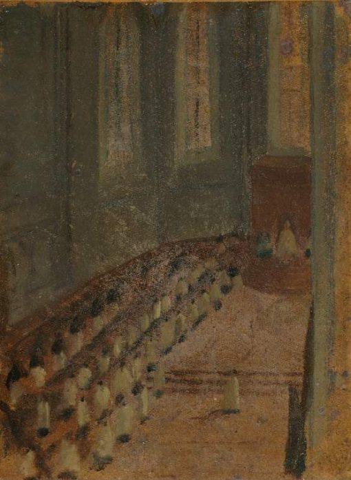 Cérémonie d'ordination dans la Cathédrale de Lyon | Edgar Degas | Oil Painting
